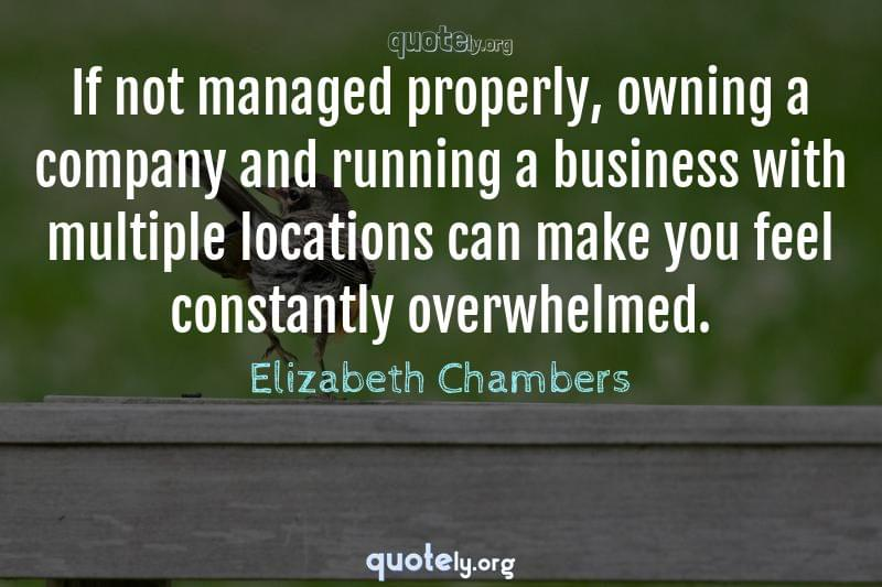 If not managed properly, owning a company and running a business with multiple locations can make you feel constantly overwhelmed. by Elizabeth Chambers