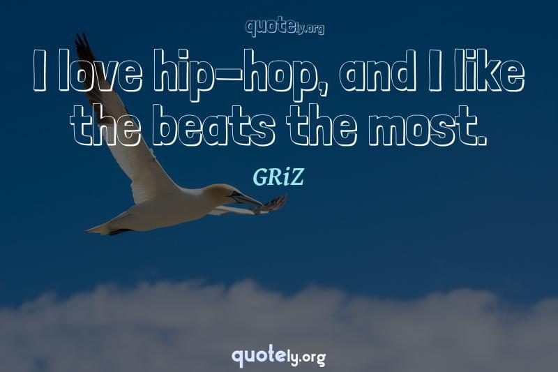 I love hip-hop, and I like the beats the most. by GRiZ