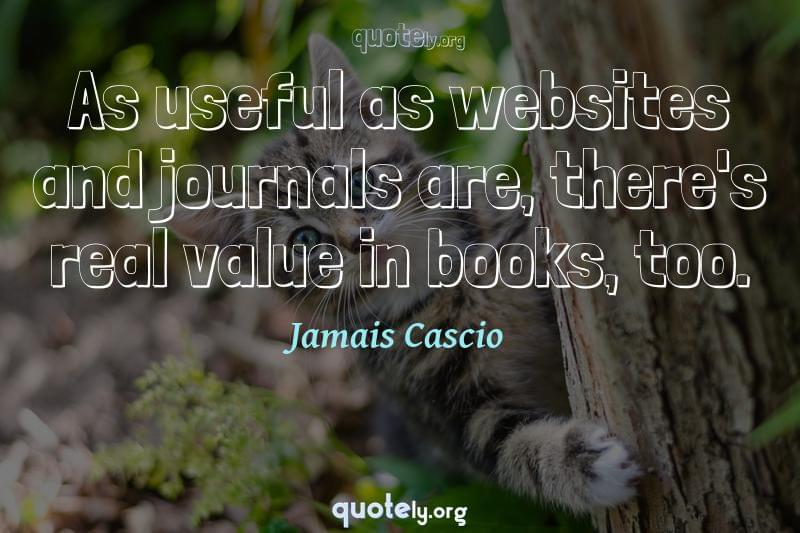 As useful as websites and journals are, there's real value in books, too. by Jamais Cascio