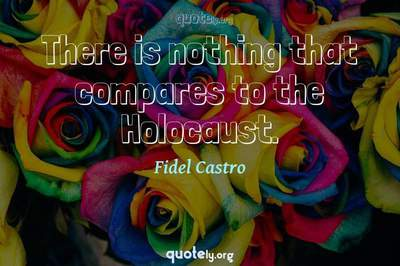 Photo Quote of There is nothing that compares to the Holocaust.