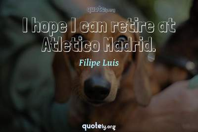 Photo Quote of I hope I can retire at Atletico Madrid.