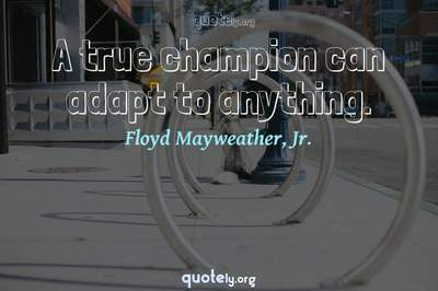 Photo Quote of A true champion can adapt to anything.