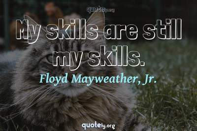 Photo Quote of My skills are still my skills.