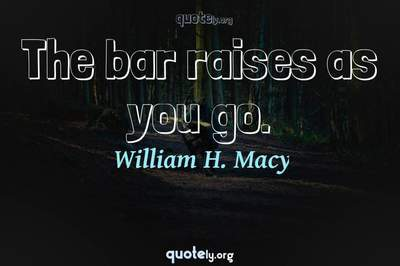 Photo Quote of The bar raises as you go.