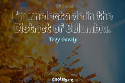 Photo Quote of I'm unelectable in the District of Columbia.