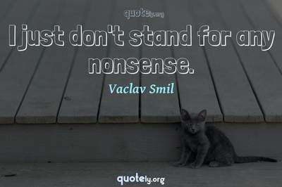 Photo Quote of I just don't stand for any nonsense.
