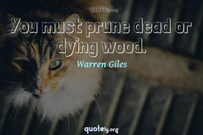 Photo Quote of You must prune dead or dying wood.