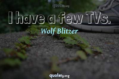 Photo Quote of I have a few TVs.