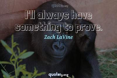 Photo Quote of I'll always have something to prove.