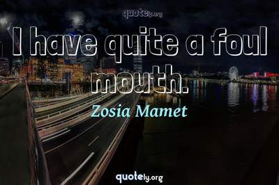 Photo Quote of I have quite a foul mouth.