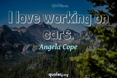 Photo Quote of I love working on cars.