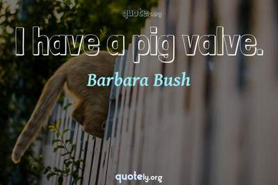 Photo Quote of I have a pig valve.