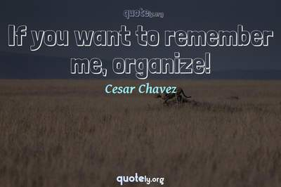 Photo Quote of If you want to remember me, organize!