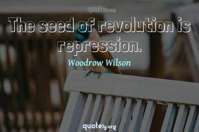 Photo Quote of The seed of revolution is repression.