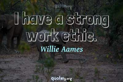 Photo Quote of I have a strong work ethic.