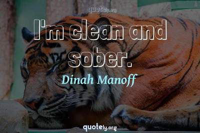 Photo Quote of I'm clean and sober.