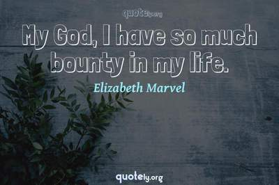 Photo Quote of My God, I have so much bounty in my life.