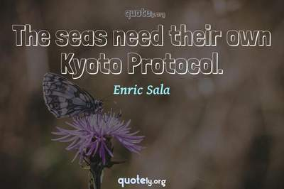 Photo Quote of The seas need their own Kyoto Protocol.