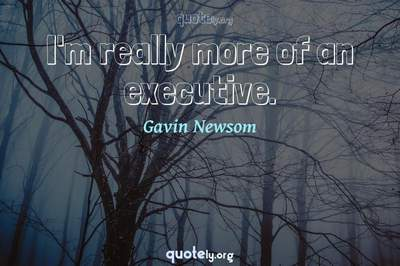 Photo Quote of I'm really more of an executive.