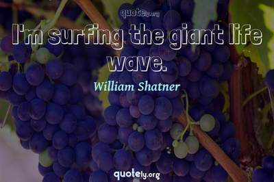 Photo Quote of I'm surfing the giant life wave.
