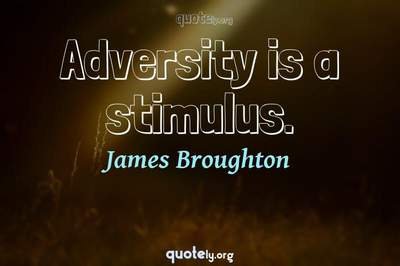 Photo Quote of Adversity is a stimulus.