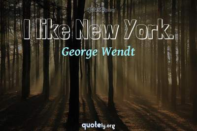 Photo Quote of I like New York.