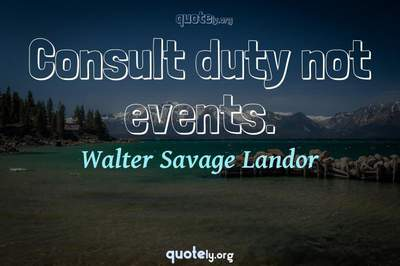 Photo Quote of Consult duty not events.