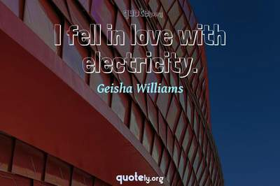 Photo Quote of I fell in love with electricity.