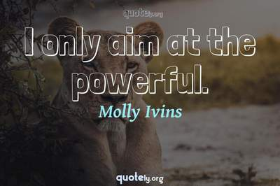 Photo Quote of I only aim at the powerful.