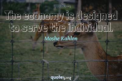 Photo Quote of The economy is designed to serve the individual.