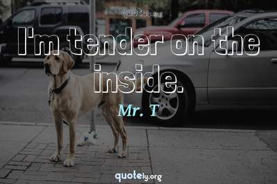 Photo Quote of I'm tender on the inside.