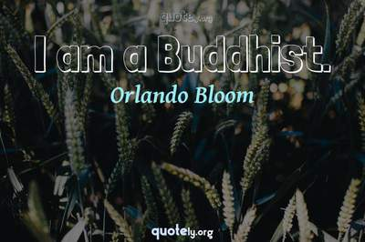 Photo Quote of I am a Buddhist.