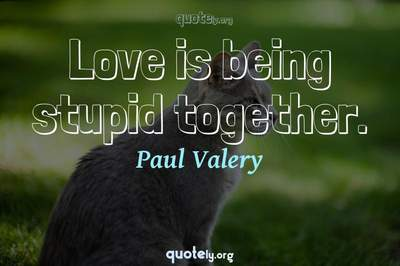 Photo Quote of Love is being stupid together.