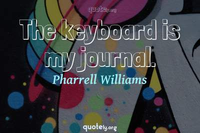 Photo Quote of The keyboard is my journal.