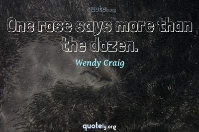 Photo Quote of One rose says more than the dozen.