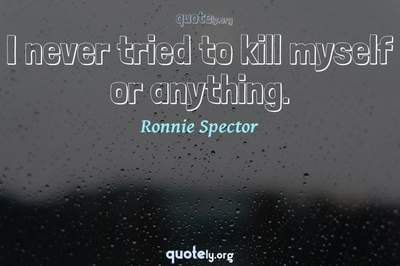 Photo Quote of I never tried to kill myself or anything.