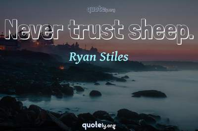 Photo Quote of Never trust sheep.