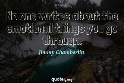 Photo Quote of No one writes about the emotional things you go through.