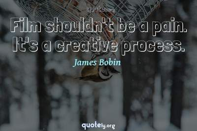 Photo Quote of Film shouldn't be a pain. It's a creative process.