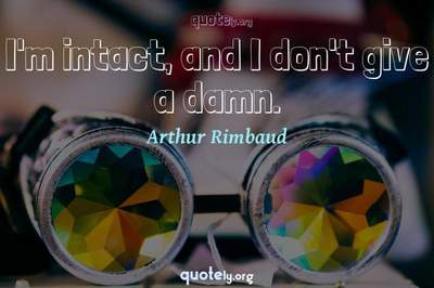 Photo Quote of I'm intact, and I don't give a damn.
