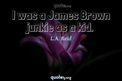 Photo Quote of I was a James Brown junkie as a kid.