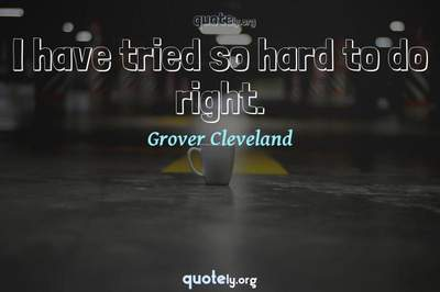 Photo Quote of I have tried so hard to do right.