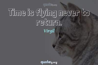 Photo Quote of Time is flying never to return.