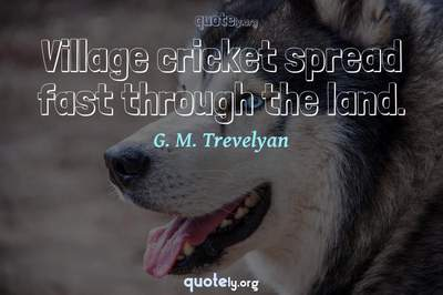 Photo Quote of Village cricket spread fast through the land.