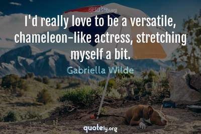 Photo Quote of I'd really love to be a versatile, chameleon-like actress, stretching myself a bit.