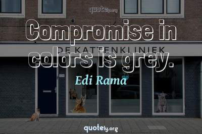 Photo Quote of Compromise in colors is grey.