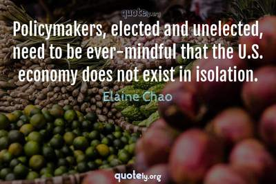 Photo Quote of Policymakers, elected and unelected, need to be ever-mindful that the U.S. economy does not exist in isolation.