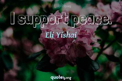Photo Quote of I support peace.