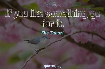 Photo Quote of If you like something, go for it.