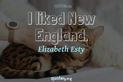 Photo Quote of I liked New England.
